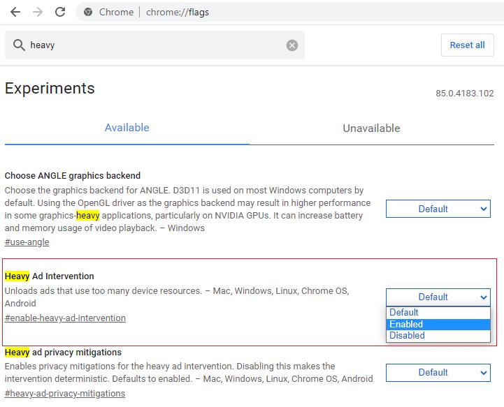 В Google Chrome активировали блокировку рекламы